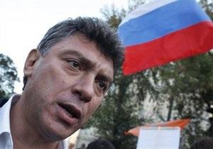 Немцова задержали на Новом Арбате