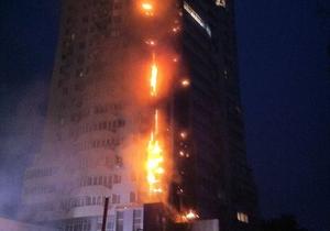 Пожар в многоэтажном доме Киева охватил 18 этажей. Очевидцы сообщили о взрыве