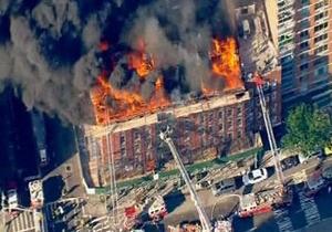 Один из кварталов Манхеттена эвакуировали из-за крупного пожара