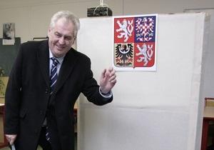Новости Чехии - Выборы в Чехии - Милош Земан победил на выборах - Милош Земан