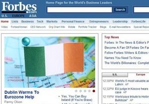 Forbes откроет европейскую версию