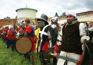В Сумской области прошли рыцарские  бои без правил