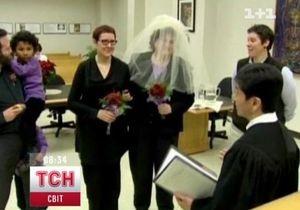 В штате Вашингтон 140 пар заключили первые однополые браки