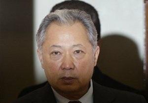Бишкек обвинил Бакиева в финансировании попытки госпереворота
