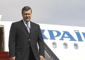 Янукович отправляется на юбилей Донецкой области