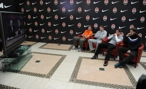 Nike осуществил поддержку прямого включения с базы ФК Шахтер в трансляцию жеребьевки Лиги Чемпионов