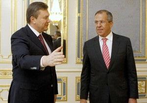 Янукович рассказал Лаврову об амбициозной задаче
