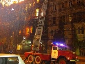 В центре Одессы горит и рушится здание-памятник архитектуры Дом Руссова