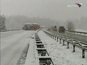 На Венгрию обрушился снегопад