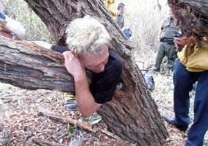 В Калифорнии спасли мужчину, застрявшего в дупле