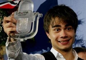 Александр Рыбак представил главный приз Евровидения в Осло