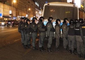Московская полиция готовится  к несанкционированной акции оппозиции