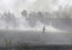 Под Киевом продолжают гореть торфяники