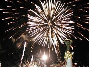 Киев накрыла волна фейерверков