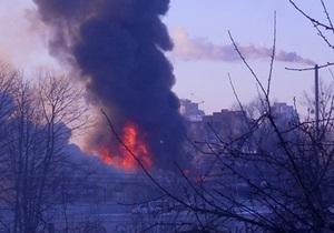 Во Львове горел крупный мебельный цех