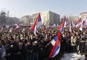 В Сербии прошел 70-тысячный митинг оппозиции