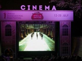 Одесский кинофестиваль - На Ланжероновском спуске состоялся специальный показ фильма Приморский бульвар