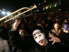 Грузинская оппозиция провела музыкальную репетицию массовой акции протеста