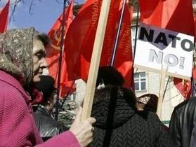 В России прошли протесты против военного присутствия НАТО