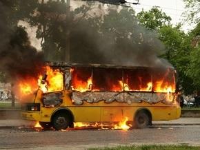 Во Львове сгорела маршрутка