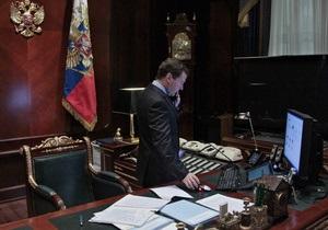 Янукович созвонился с Медведевым и дал поручения украинским спецслужбам