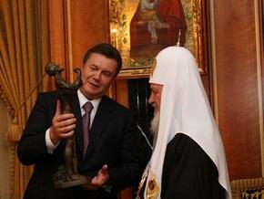 Ющенко и Янукович поздравили патриарха Кирилла с днем рождения