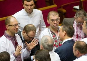 Рада - оппозиция - вышиванки - Вышиванки в Раде. Новый скандал между регионалами и оппозицией