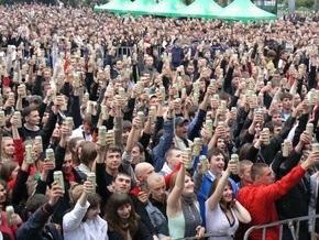 Львовские любители пива установили мировой рекорд