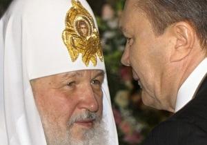 Янукович встретился с патриархом Кириллом
