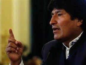 Моралес обвинил США в поощрении наркоторговли