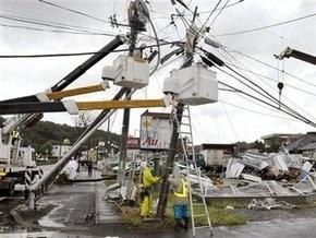 В Японии бушует тайфун Мелор