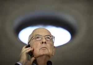 После отставки Берлускони президент Италии проводит консультации по кандидатуре премьер-министра