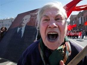 Первомайские демонстрации посетили два миллиона россиян