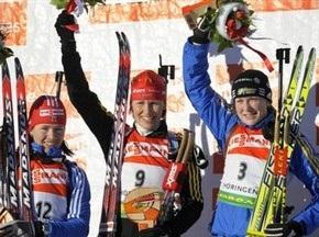 Біатлон: Каті Вільгельм здобула перемогу в гонці з масовим стартом