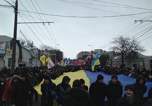 новини Тернополя - мітинг - опозиція - вставай, Україно! - На мітинг опозиції в Тернополі прийшли від чотирьох до десяти тисяч людей