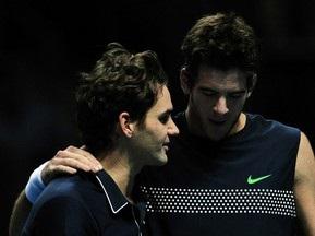 Букмекеры считают Федерера и Дель Потро фаворитами полуфинальных матчей на итоговом турнире ATP