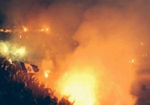 Фотогалерея: Киев в дыму. Как фанаты Динамо зажигали на стадионе