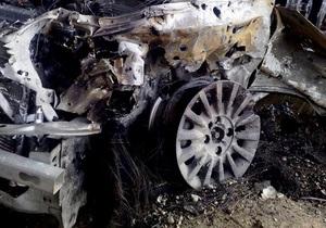 У Києві в результаті вибуху газу пошкоджені три автомобілі