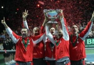 Фотогалерея: Чемпионский постриг. Сербские теннисисты впервые в истории выиграли Кубок Дэвиса