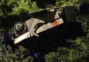 Новини Італії - ДТП - В Італії автобус впав у прірву. Кількість жертв зросла до 36 осіб