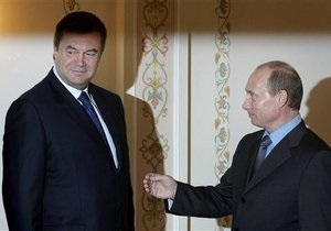 Путин обсудит с Януковичем двусторонние отношения в ходе совместного ужина