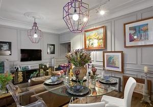 Интерьер квартиры - дизайн интерьера - неоклассика в интерьере - Богемная небрежность в неоклассическом интерьере
