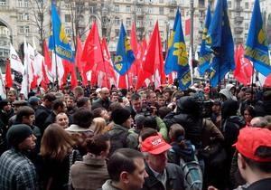 новости Киева - Киевсовет - митинг - протесты - МВД - Митинг у Киевсовета завершен, протестующие покидают Крещатик