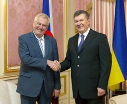 новости Киева - Янукович - Чехия - визит - встреча - В Киеве Янукович проводит закрытую встречу с президентом Чехии