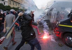 Беспорядки в Риме: Число пострадавших полицейских возросло до 20