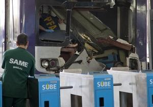 В Буэнос-Айресе в железнодорожной аварии пострадали 79 человек