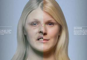 Результат на лицо. Финны показали, как курение меняет тело человека