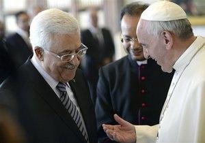 Папа Римский подарил президенту Палестины ручку для подписания мирного договора с Израилем
