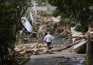 Япония - тайфун - В Японии продолжаются поиски более 40 пропавших без вести после сильнейшего тайфуна