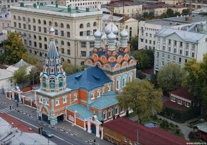 Группа людей  восточной внешности  напала на православный храм в Москве